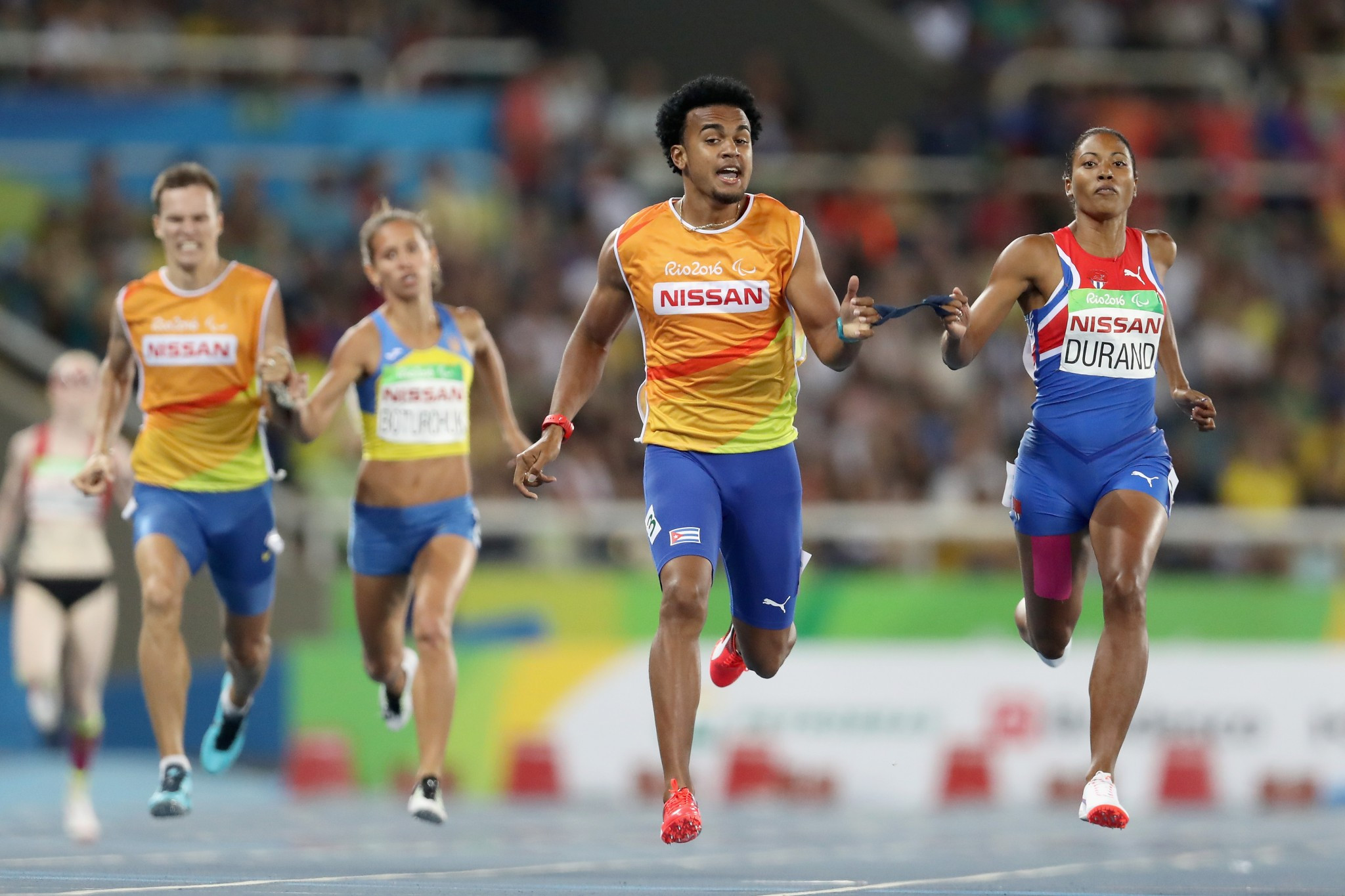 Cuban sprinter Omara Durand is one of three athletes hoping to prevail in the best female category ©Getty Images