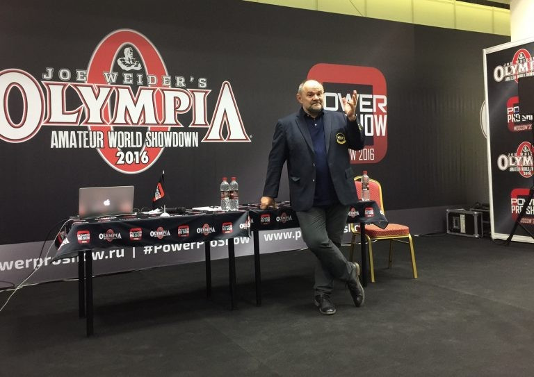 Pawel Filleborn was in attendance to answer questions ©IFBB