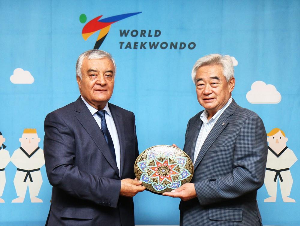 Uzbekistan Taekwondo Association President visits Choue in Seoul