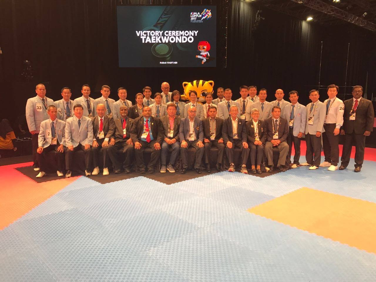 Eleven countries competed in the taekwondo competition in Kuala Lumpur ©OTU