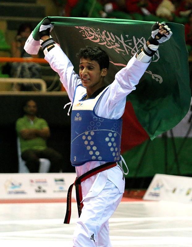 Mohammed Alsowaiq won a historic gold medal for Saudi Arabia in Egypt ©World Taekwondo