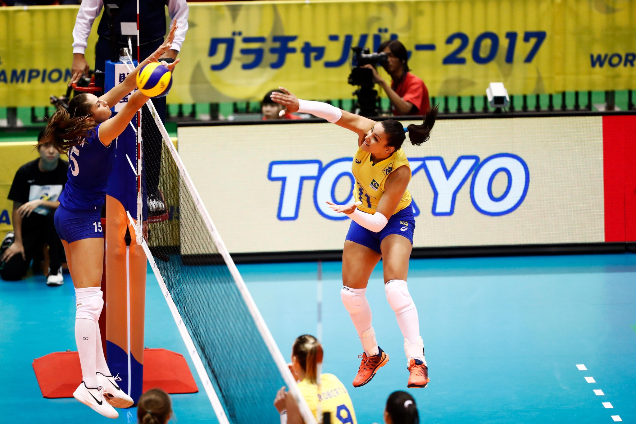 Brazil earn opening win at FIVB Women's World Grand Champions Cup