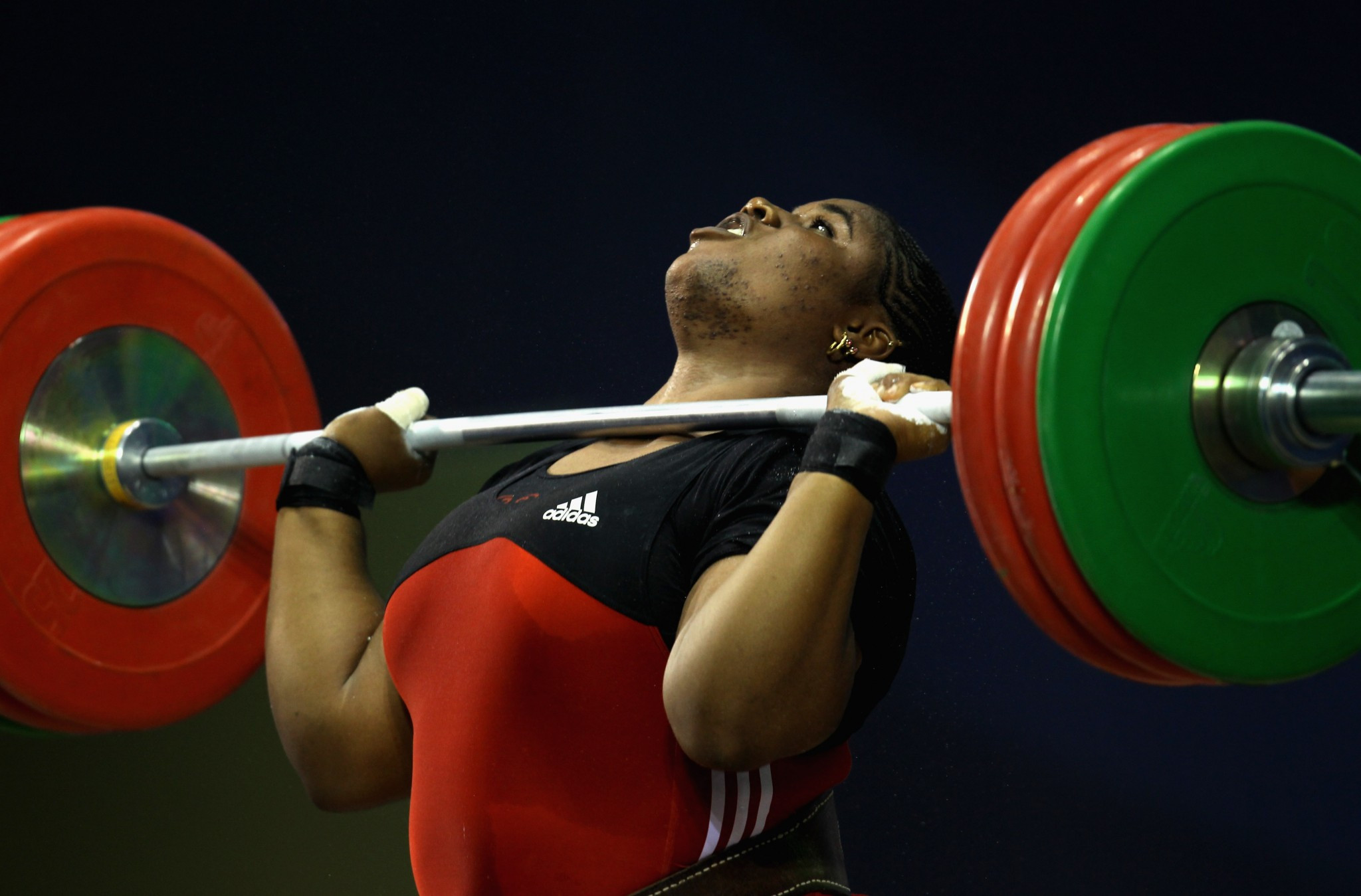 Mariam Usman won Nigeria's only weightlifting medal back at Beijing 2008 with the NWF aiming for a gold in Tokyo ©Getty Images