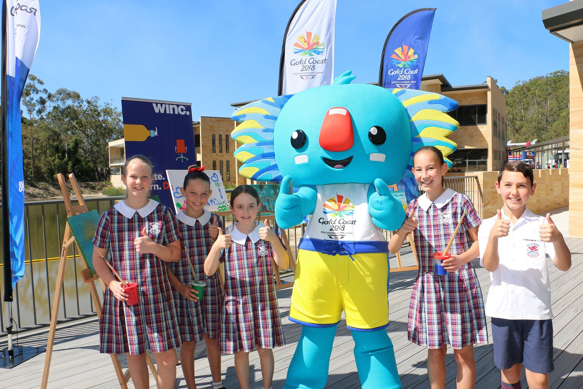Winc will provide canvasses to support Gold Coast 2018's Schools Connect programme ©Gold Coast 2018