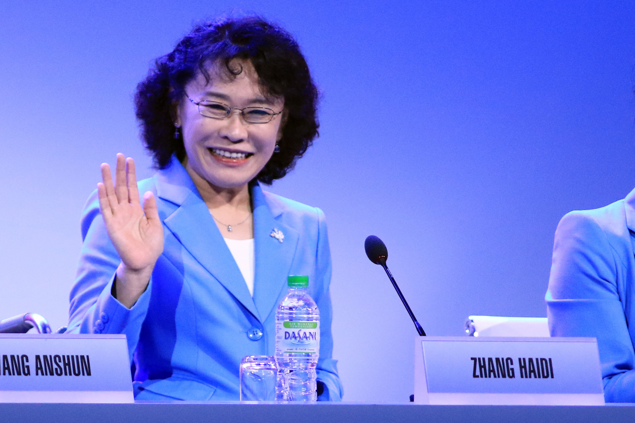 China's Zhang Haidi called on the voting members to trust in her capability and determination to lead the IPC ©Getty Images
