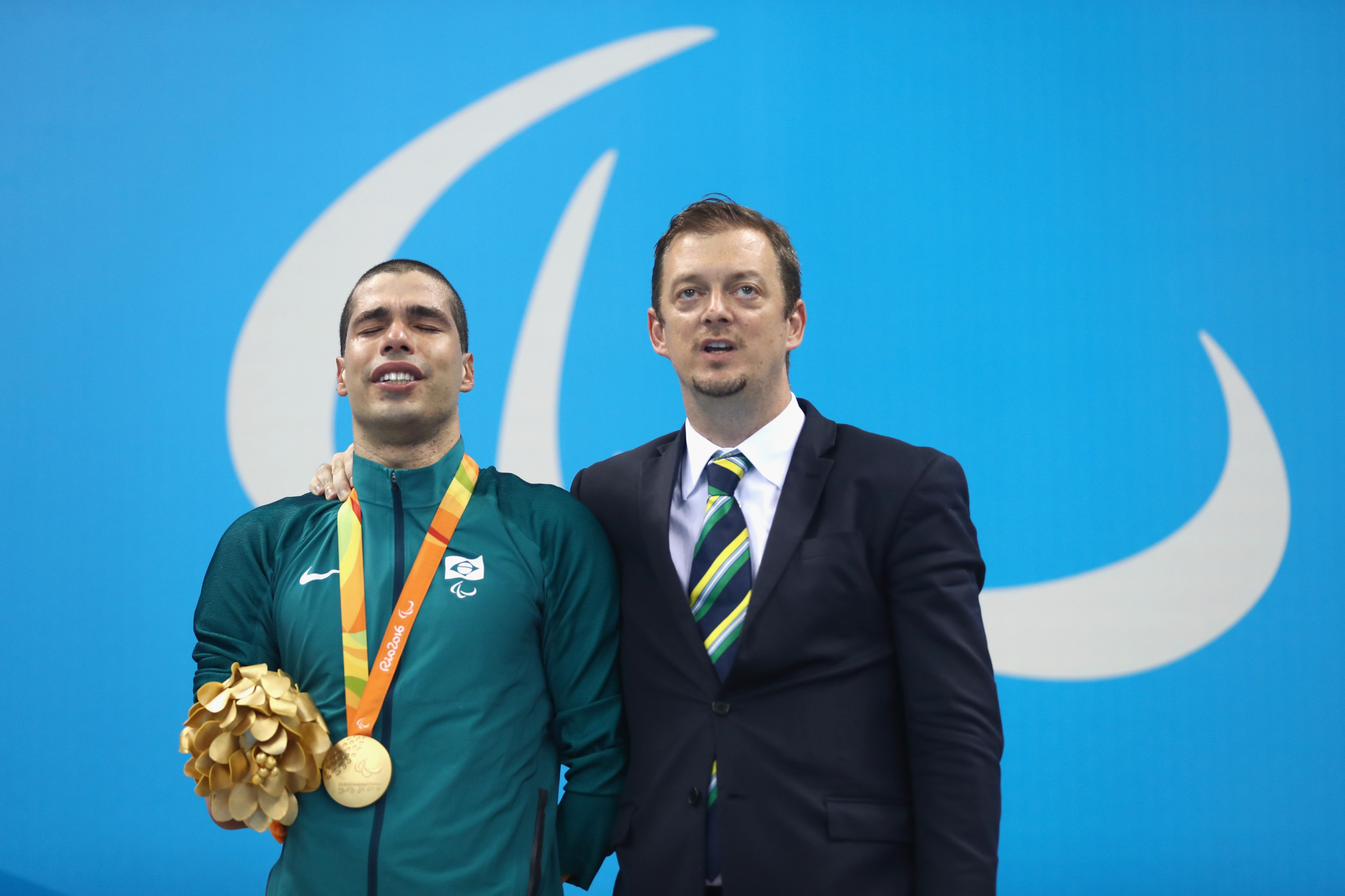 Brazil's Andrew Parsons, pictured here with his country's swimming star Daniel Dias at Rio 2016, is promising a better dialogue with IPC members if he is elected President ©Getty Images