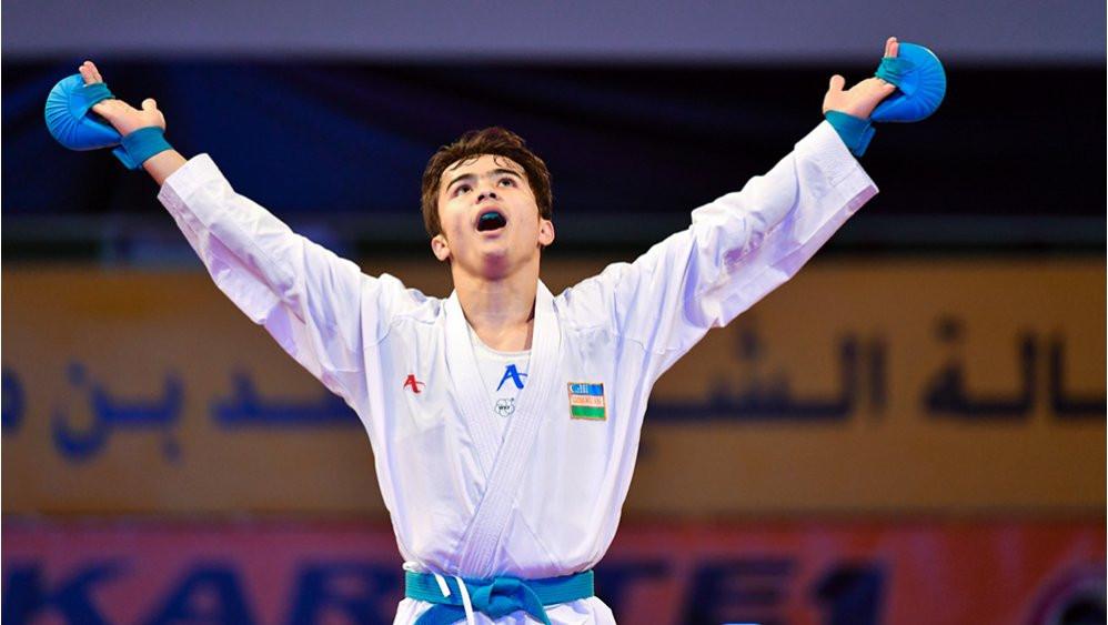Sadriddin Saymatov has won three Karate 1-Premier League titles this season ©WKF