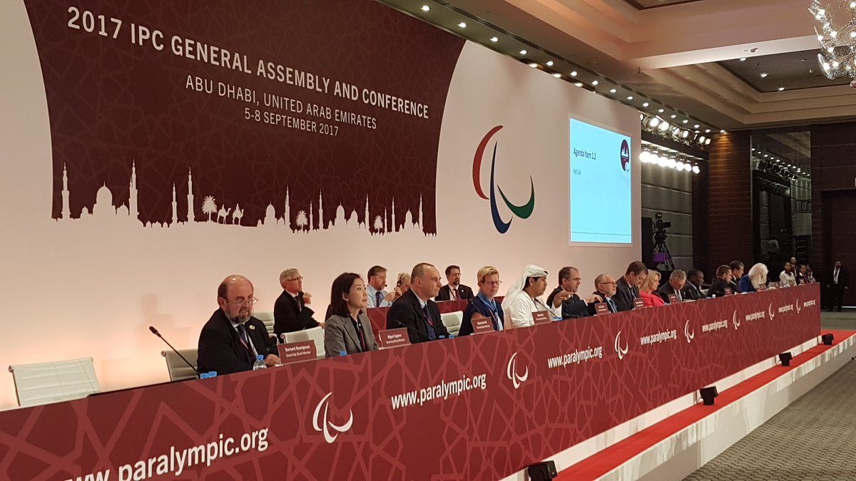 The IPC Presidential election is due to take place tomorrow, during the global governing body's General Assembly ©Paralympic Games/Twitter