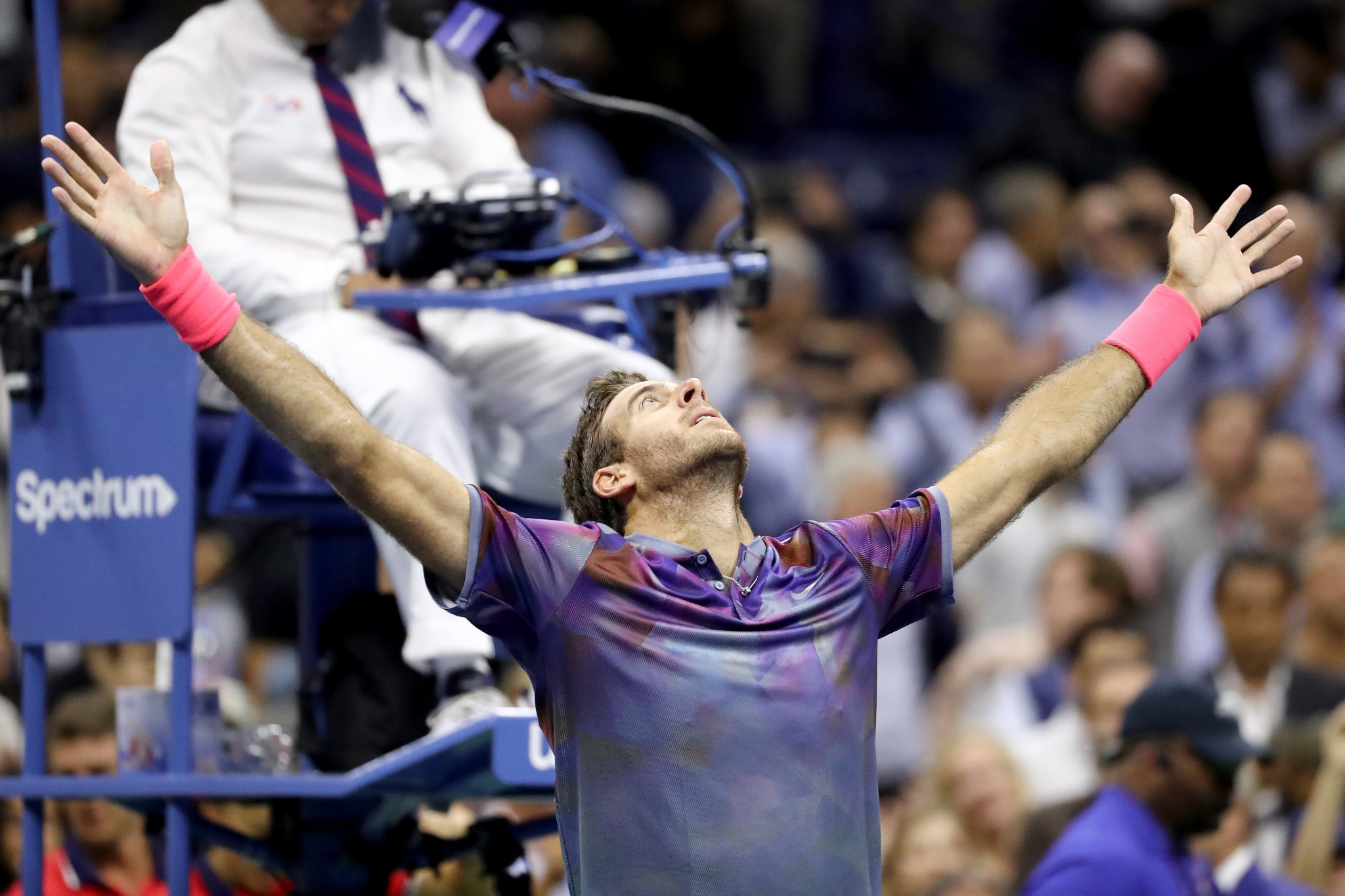 Del Potro beats Federer to reach last four as all-American women's semi-final line-up confirmed at US Open