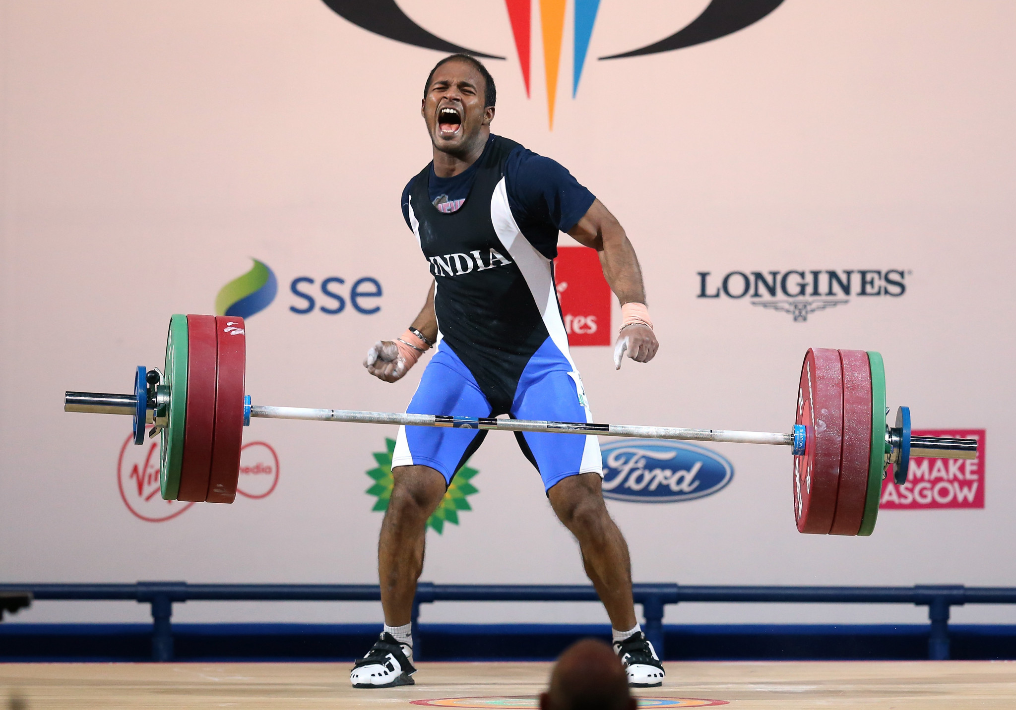 Sathish Sivalingam won gold at Glasgow 2014 ©Getty Images