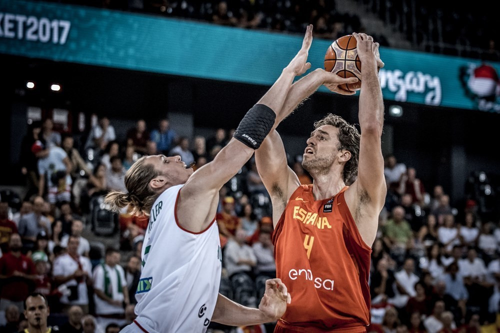 Reigning champions Spain comfortably through to EuroBasket round of 16 as Gasol makes history
