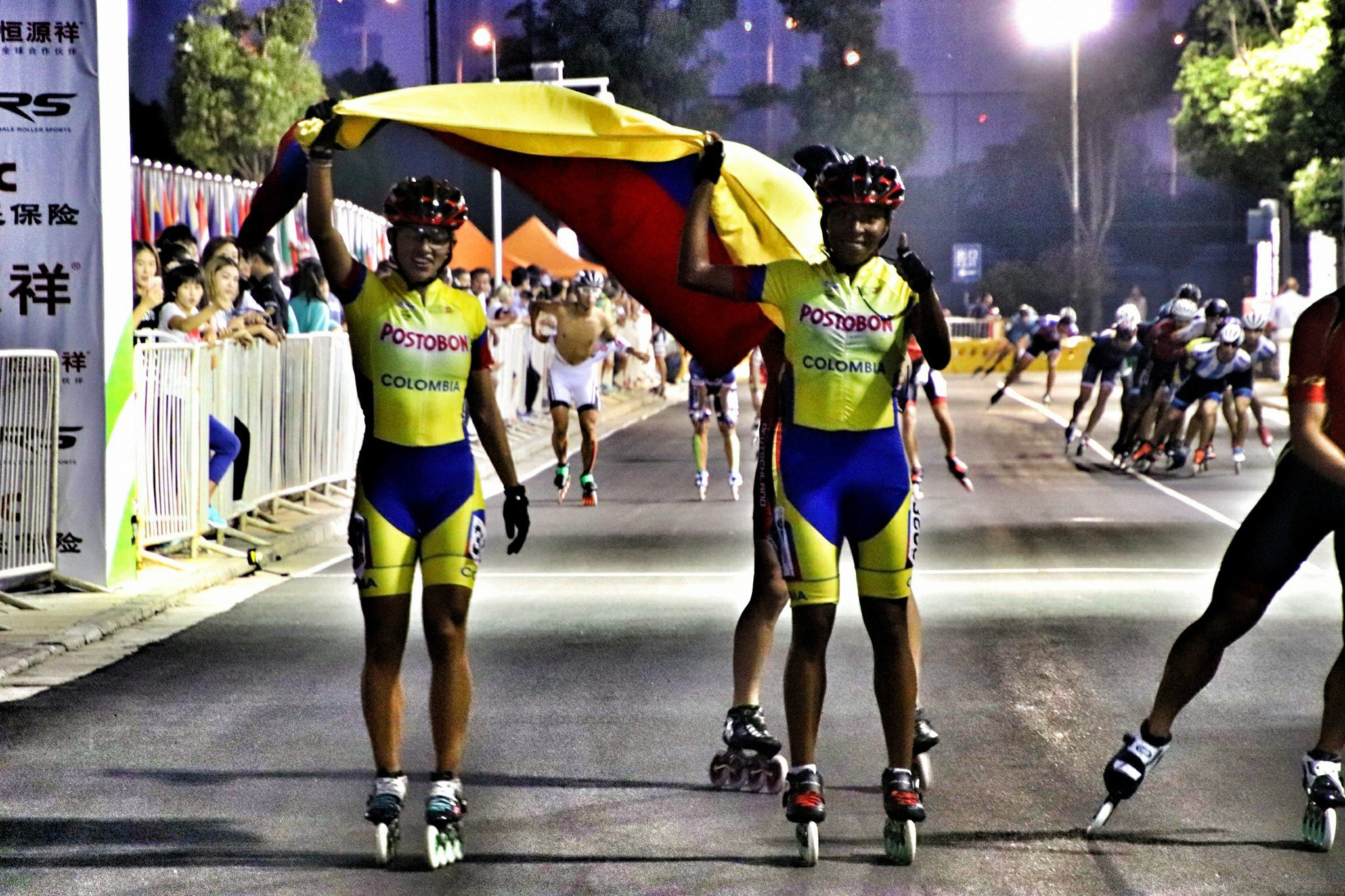 Colombia earned double speed skating gold ©World Skate