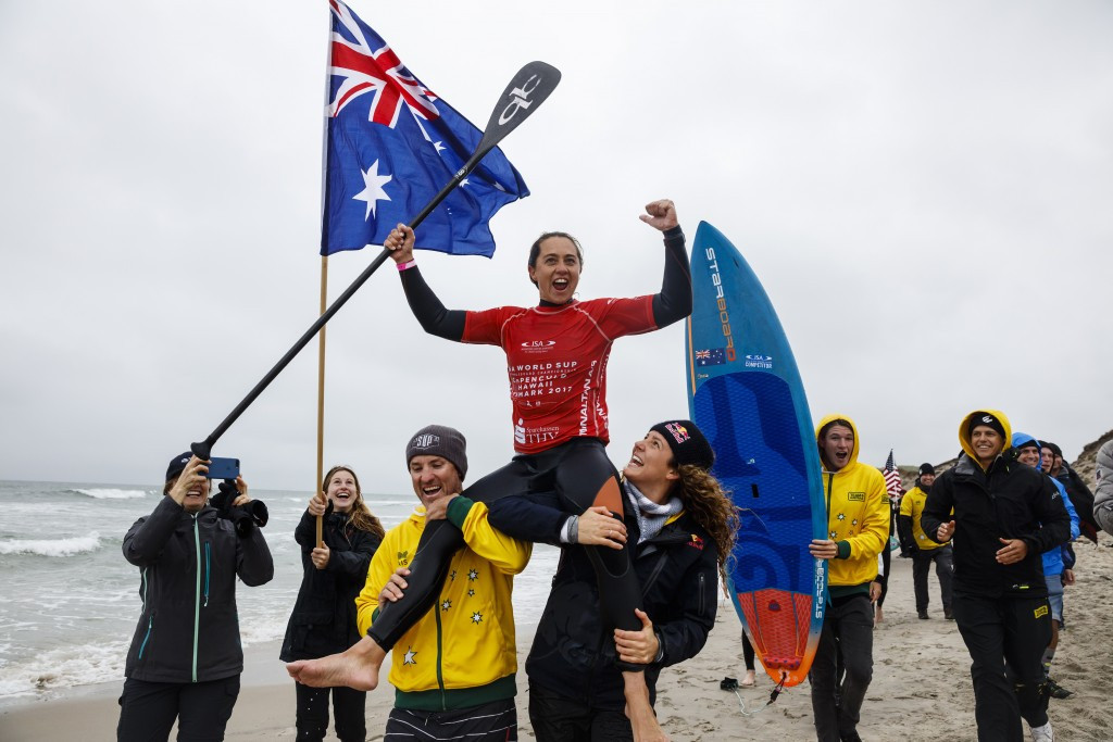 Westdorp defends women's stand up paddle title at ISA World SUP and Paddleboard Championship