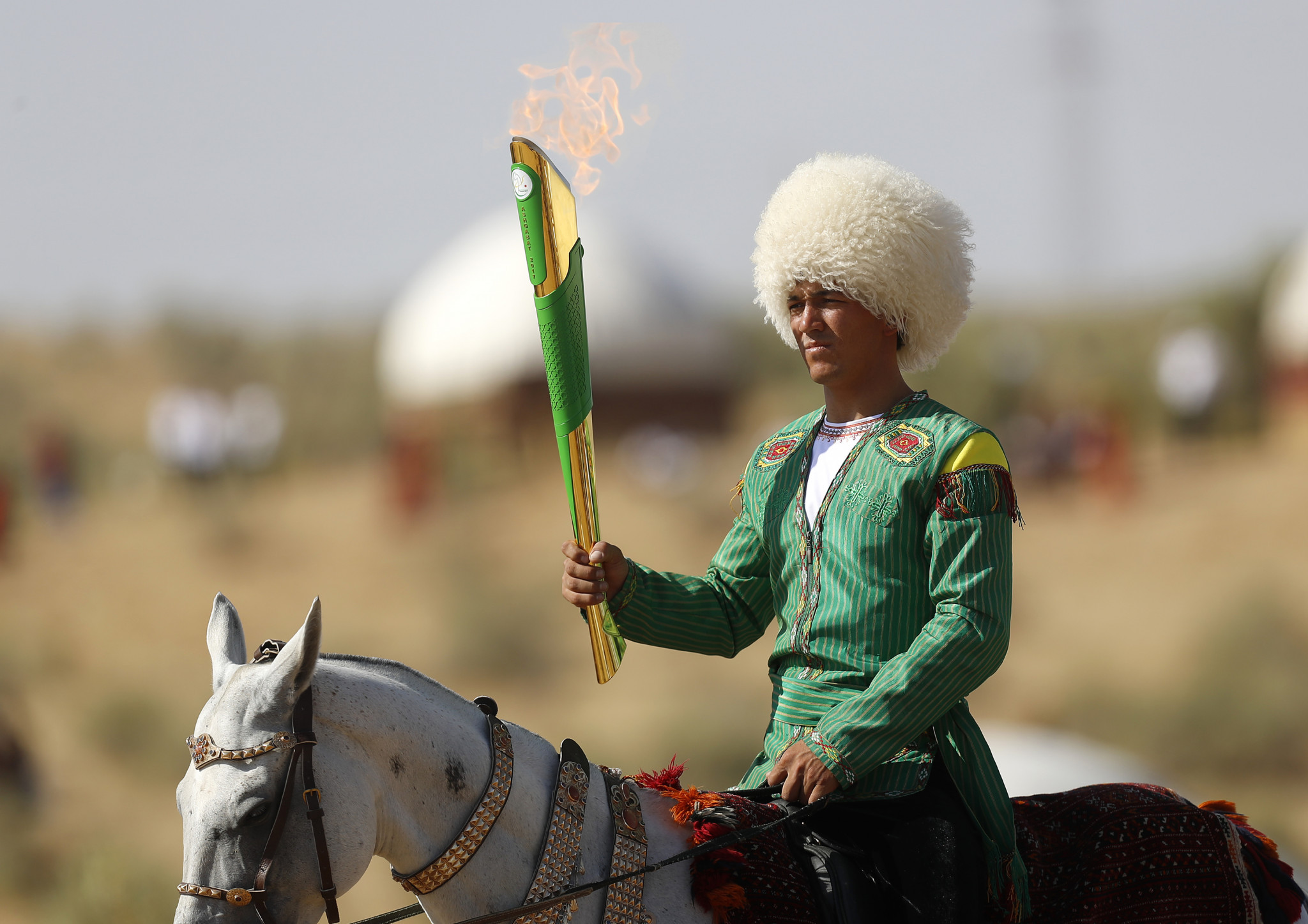 Torch lighting ceremony held for Ashgabat 2017