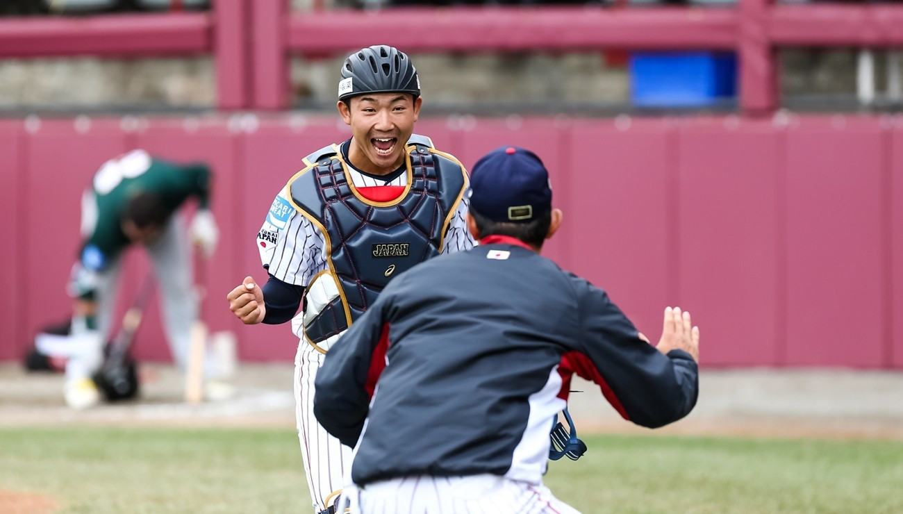 Japan also began their super round campaign with victory ©WBSC