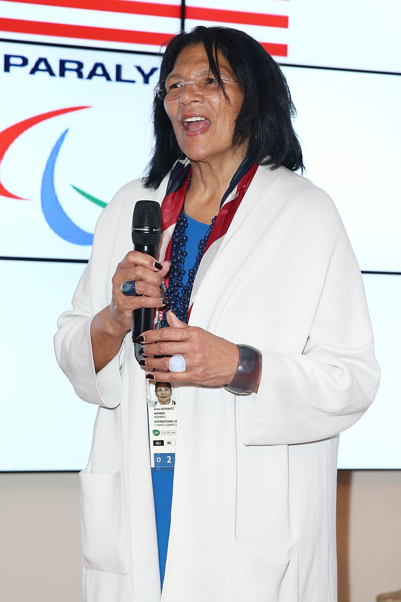 Anita DeFrantz made history as the first female IOC vice president ©Getty Images