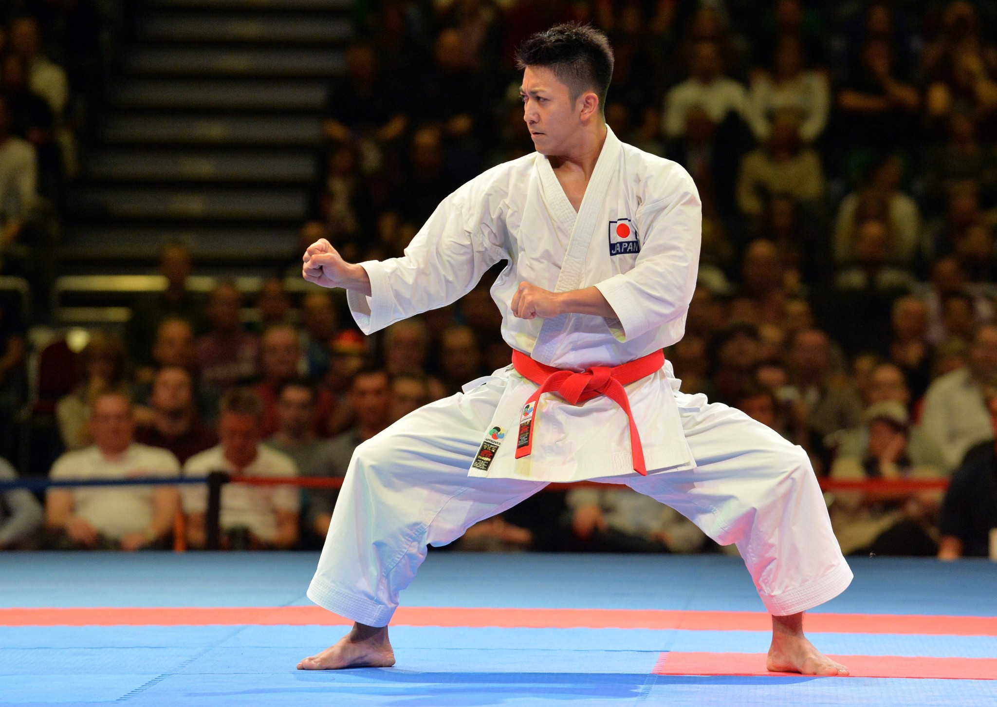 Ryo Kiyuna is the reigning men's kata world champion ©WKF