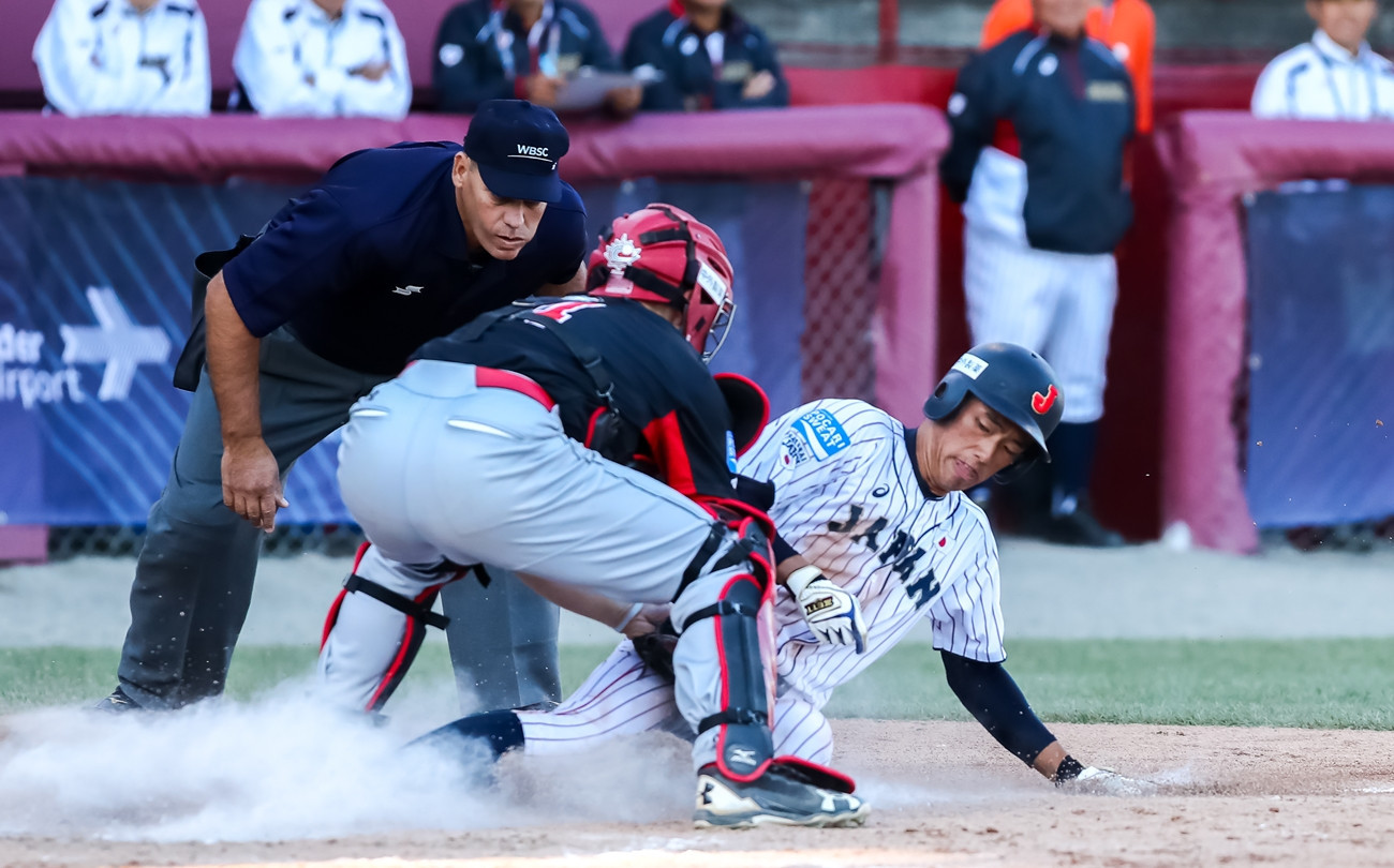 Canada beat Japan 6-4 today ©WBSC