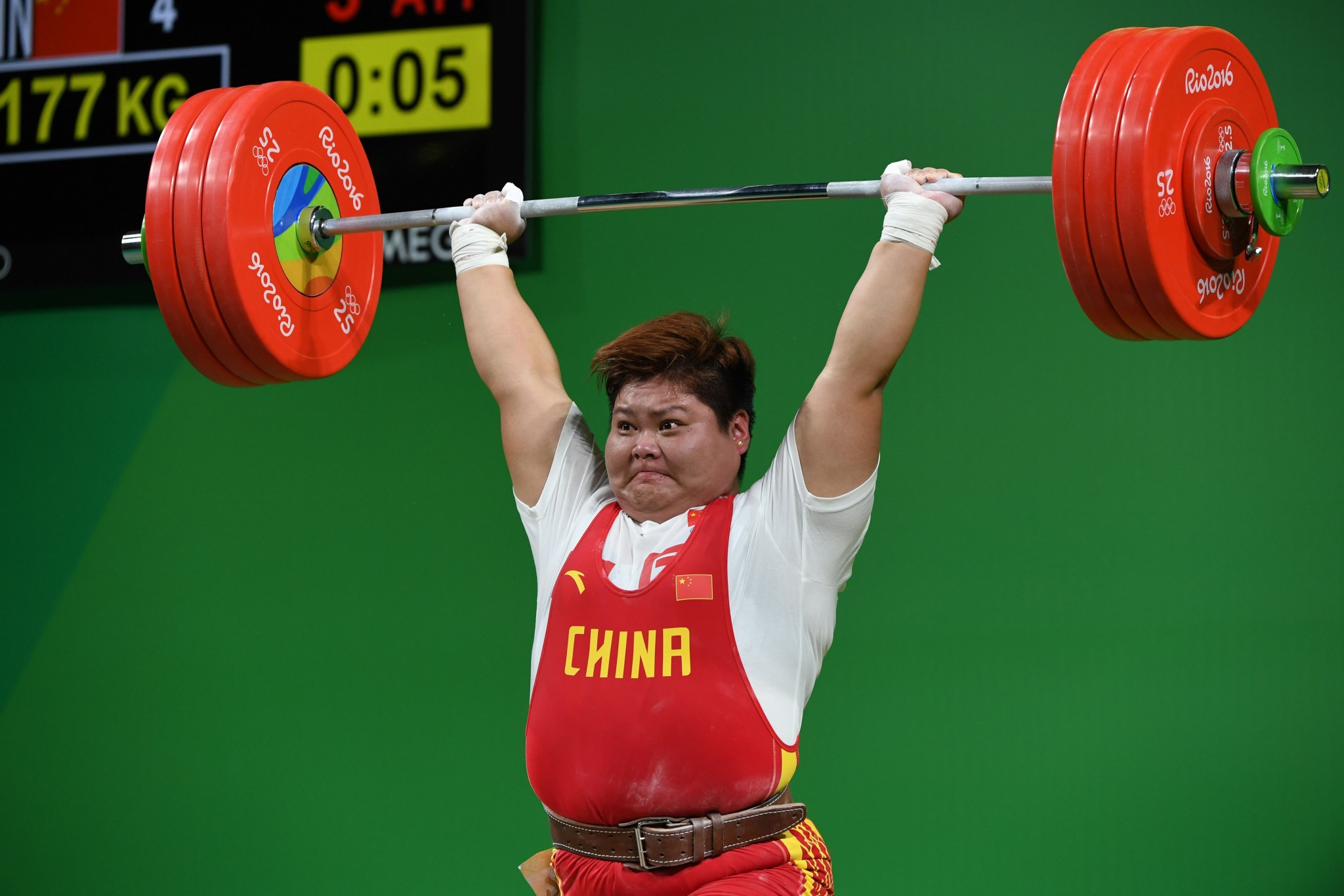 Meng Suping posted a career-best total of 329kg ©Getty Images