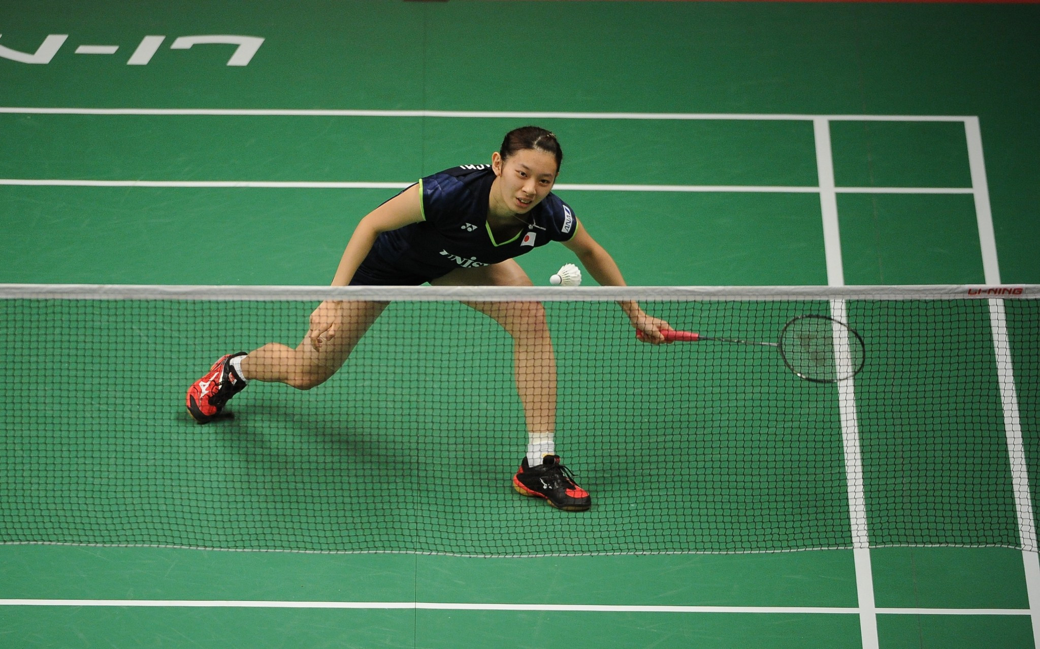 Sayaka Takahashi, the favourite in the women's singles, is safely into the final ©Getty Images