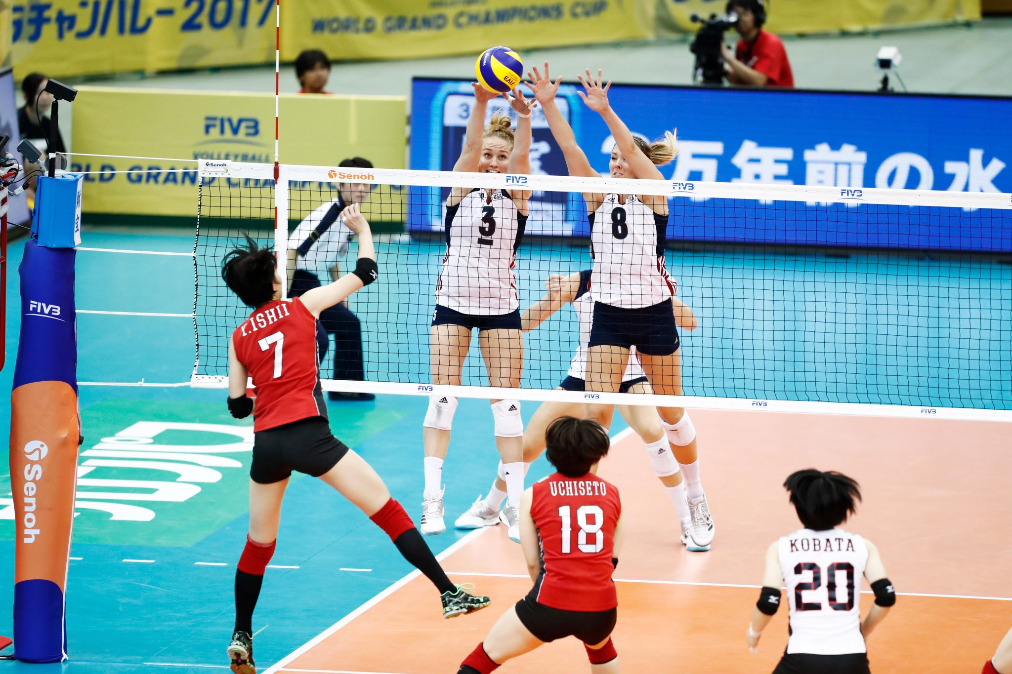 The United States won but ultimately handed China the main prize ©FIVB