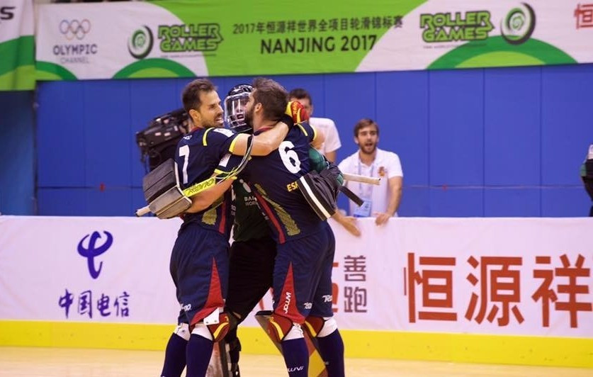 Spain beat Portugal in a shootout to claim the gold medal ©FIRS