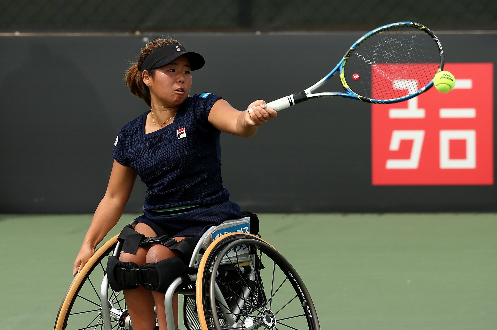 Japan's Yui Kamiji is the only non-Dutch player in the women's singles semi-finals ©Getty Images