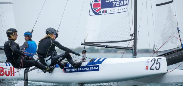 Saxton and Dabson lead on penultimate day of Nacra 17 World Championships