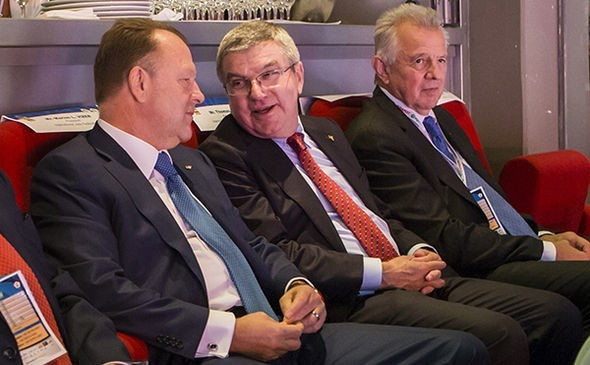 IOC President Thomas Bach was in attendance for the mixed team competition ©IJF