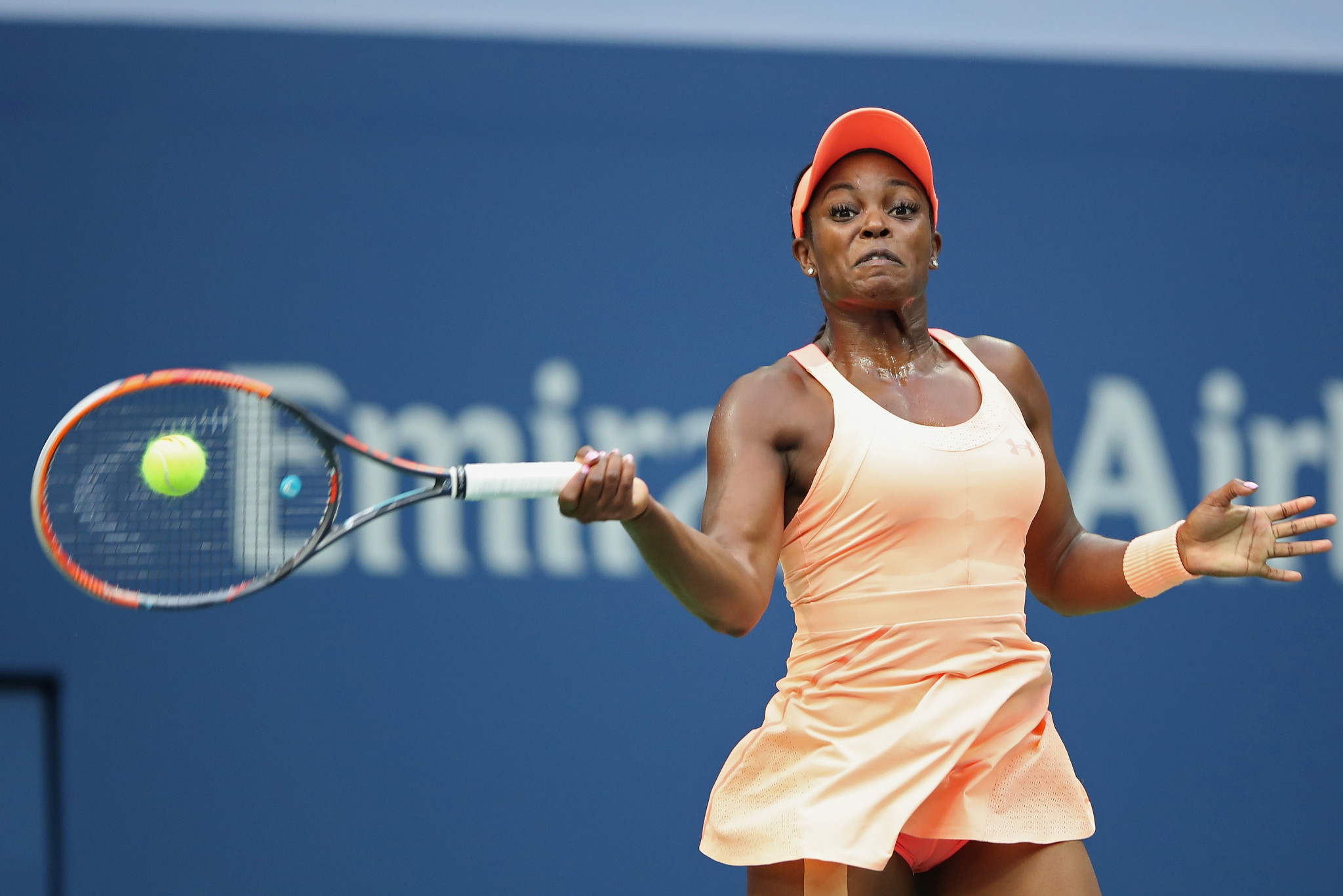Sloane Stephens, pictured, claimed a 6-3, 6-0 victory over Madison Keys in an all-American final ©Getty Images