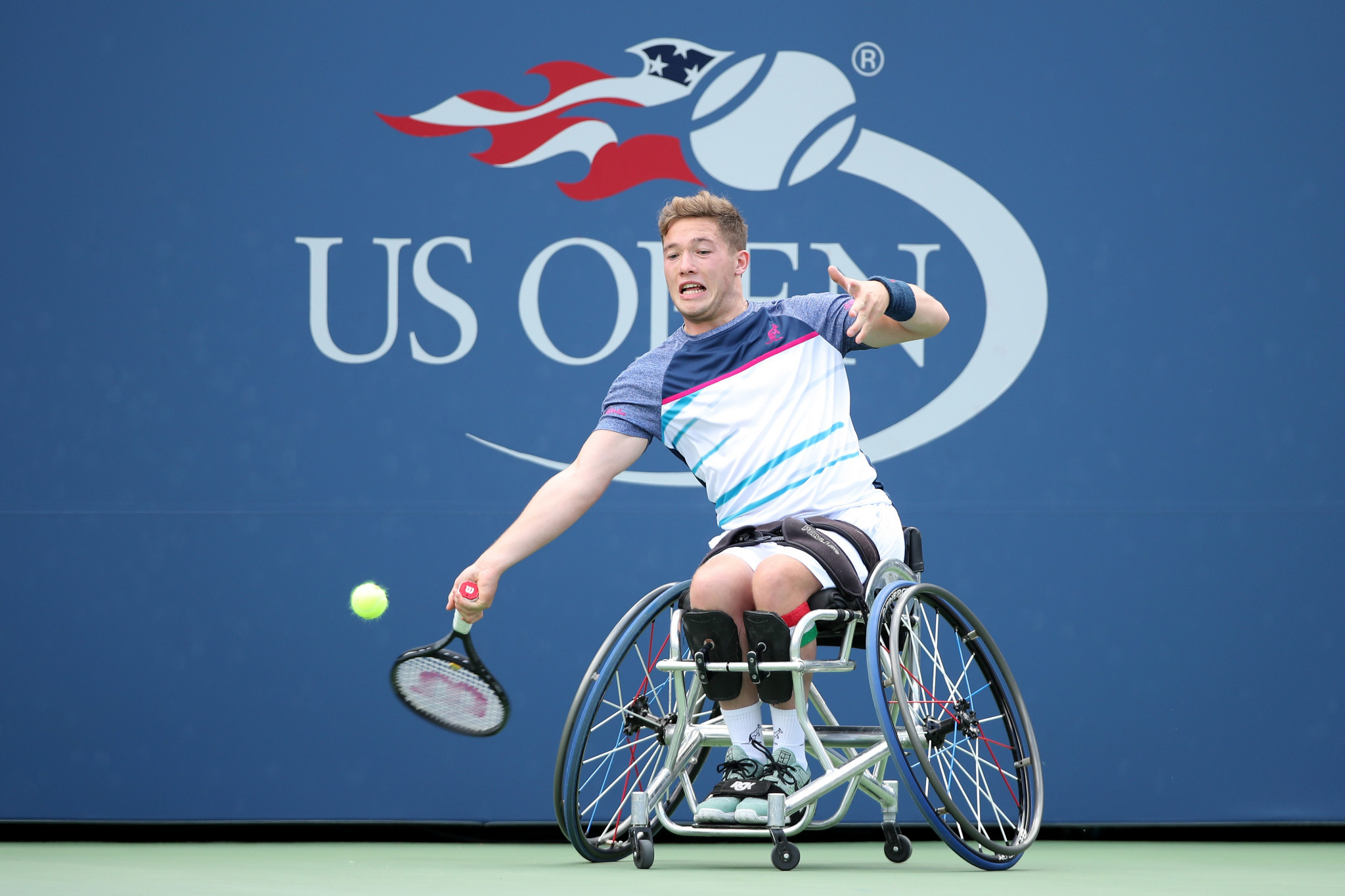 Alfie Hewett won an all-British semi-final at the US Open today ©Getty Images