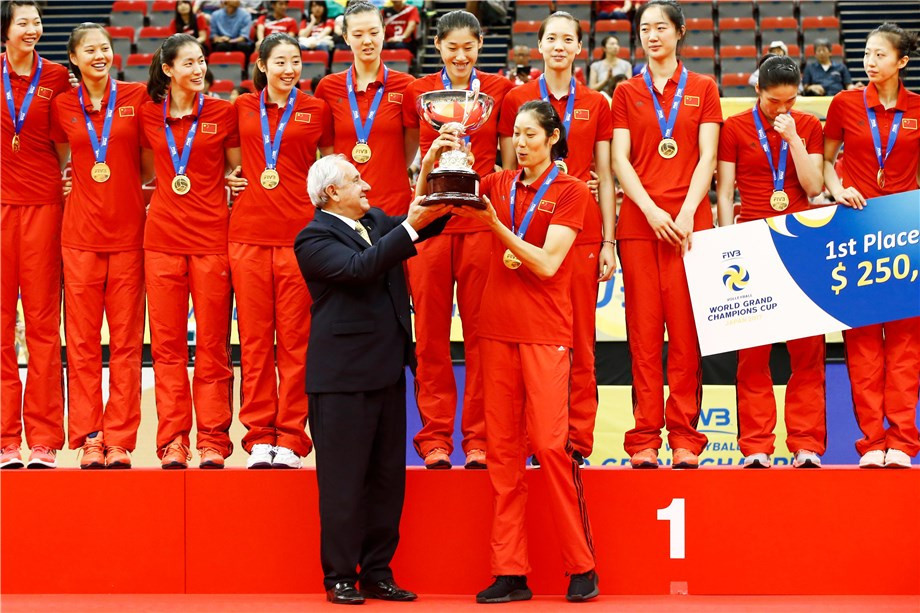 China lift FIVB Women's World Grand Champions Cup title with unbeaten record intact