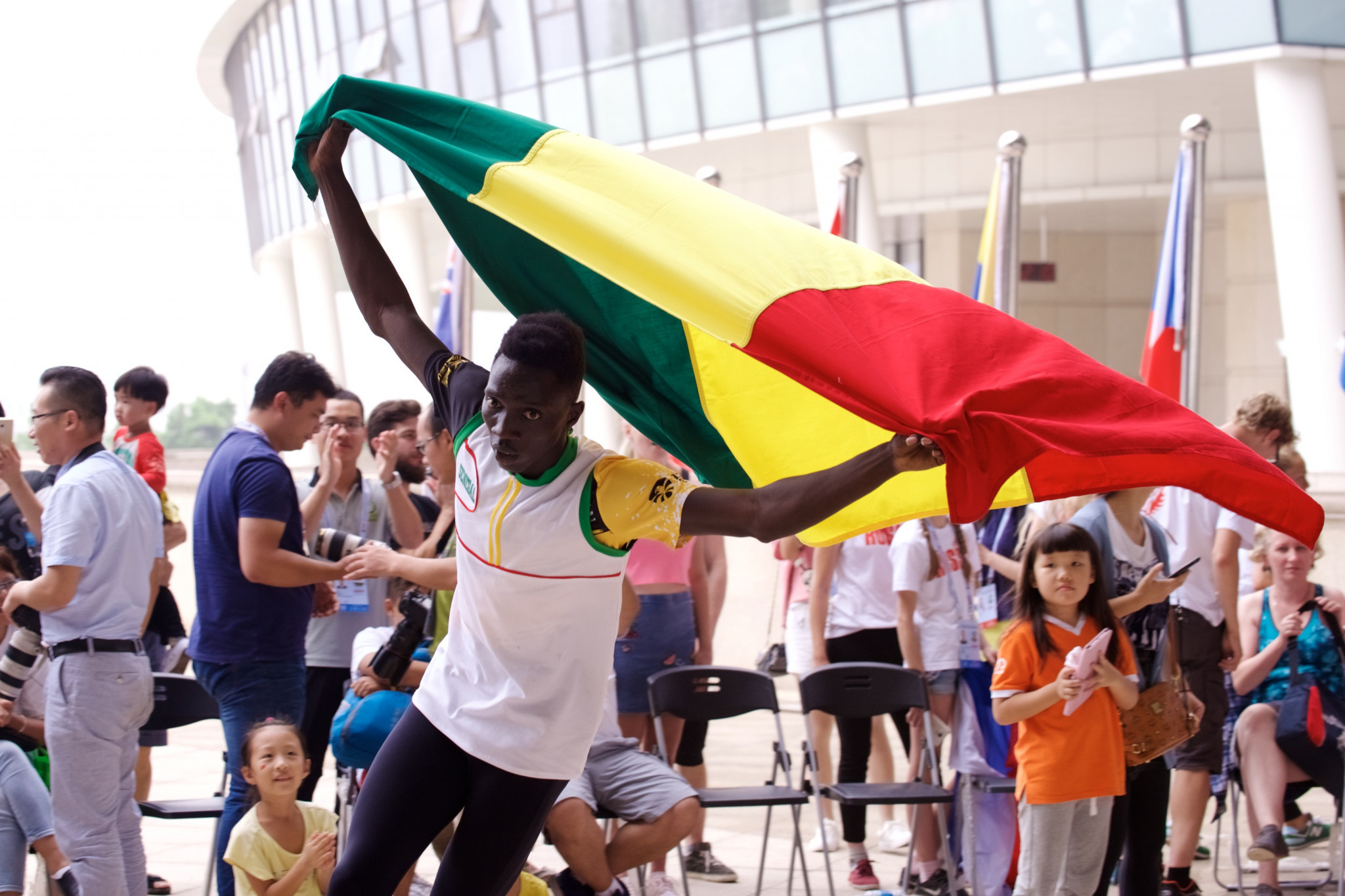 Dame Fall won Senegal's second gold on a momentous day ©FIRS