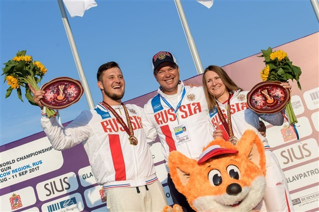 Russian pair bag final gold in mixed skeet at ISSF World Championships