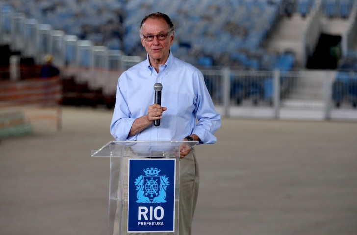 Rio 2016 President Carlos Nuzman also spoke alongside Eduardo Paes