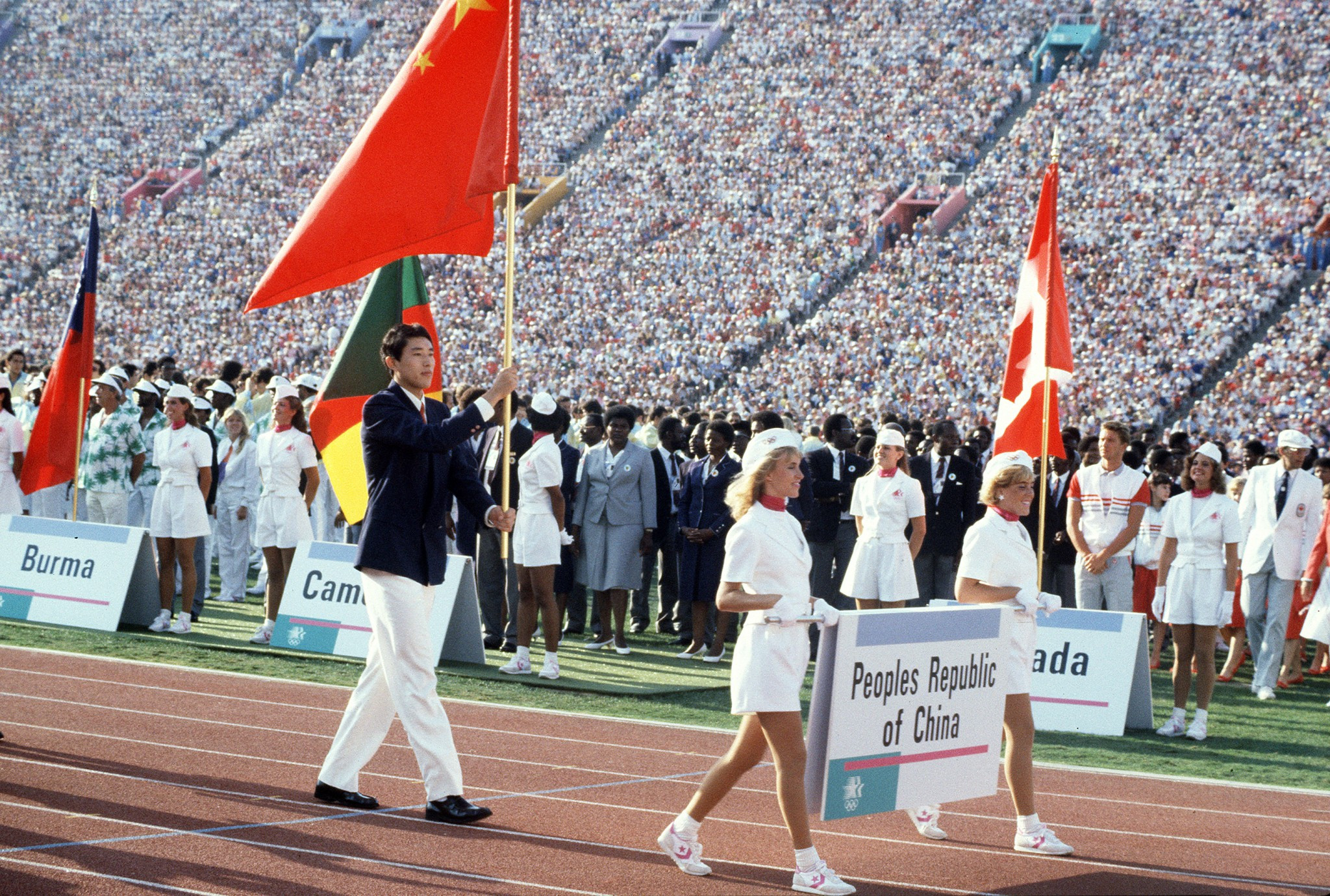 A deal cut at the IOC Session in Montevideo in 1979 paved for China to finally return to the Olympic Games after a 32-year absence at Los Angeles in 1984 ©Getty Images