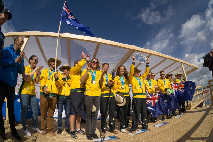 Australia won the overall title by winning the relay on the final day of the event ©ISA