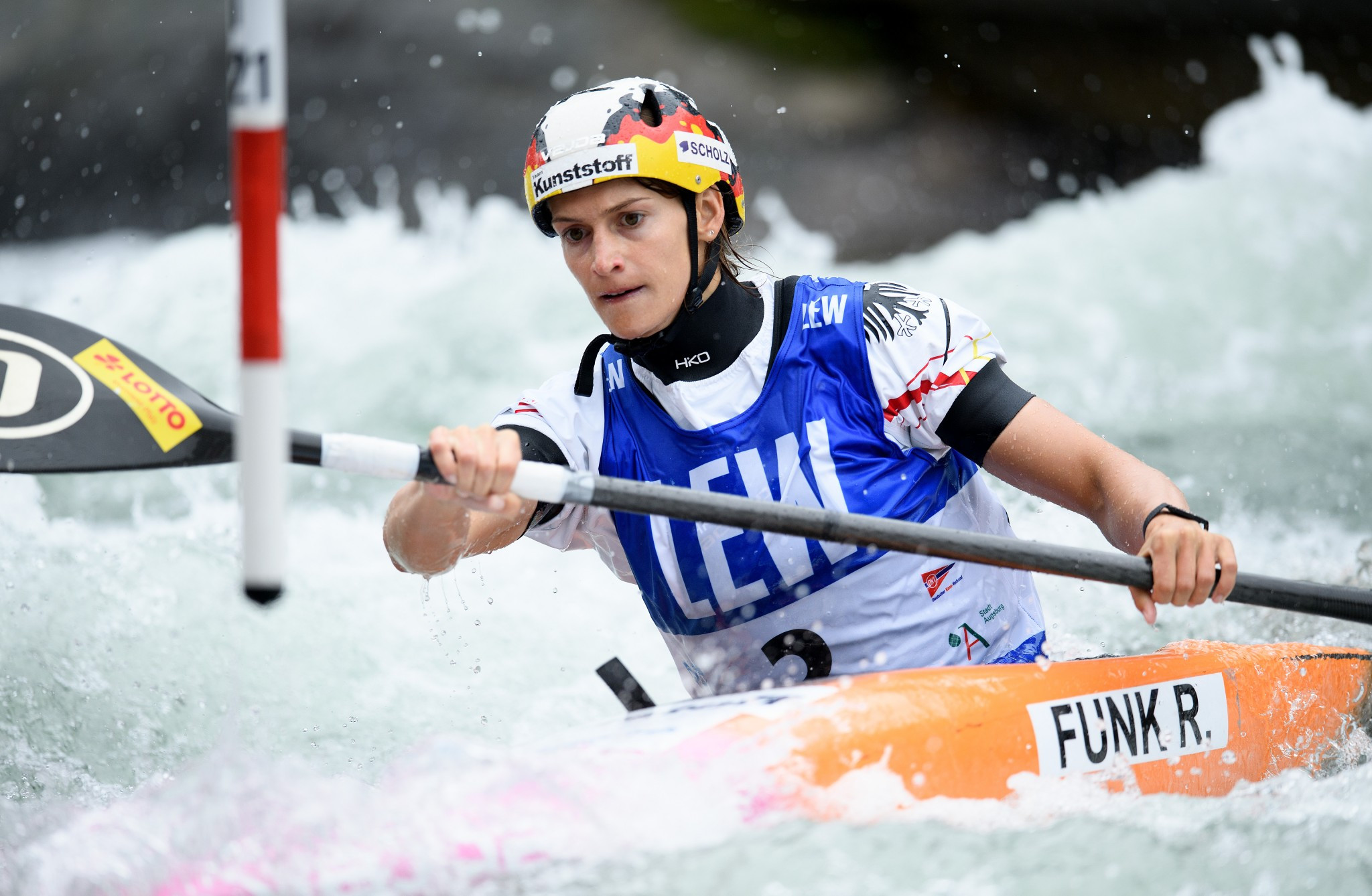 Germany's Ricarda Funk won the final K1 event of the season to clinch the overall Canoe Slalom World Cup title ©Getty Images