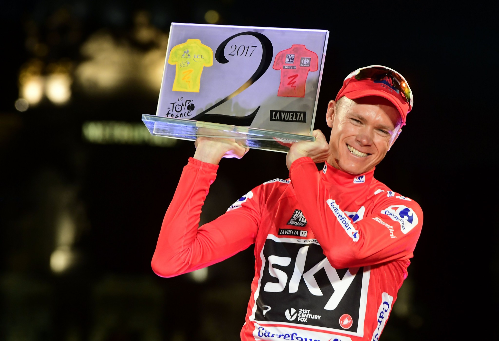 Chris Froome became the third rider to achieve the Tour de France and Vuelta a Espana double ©Getty Images