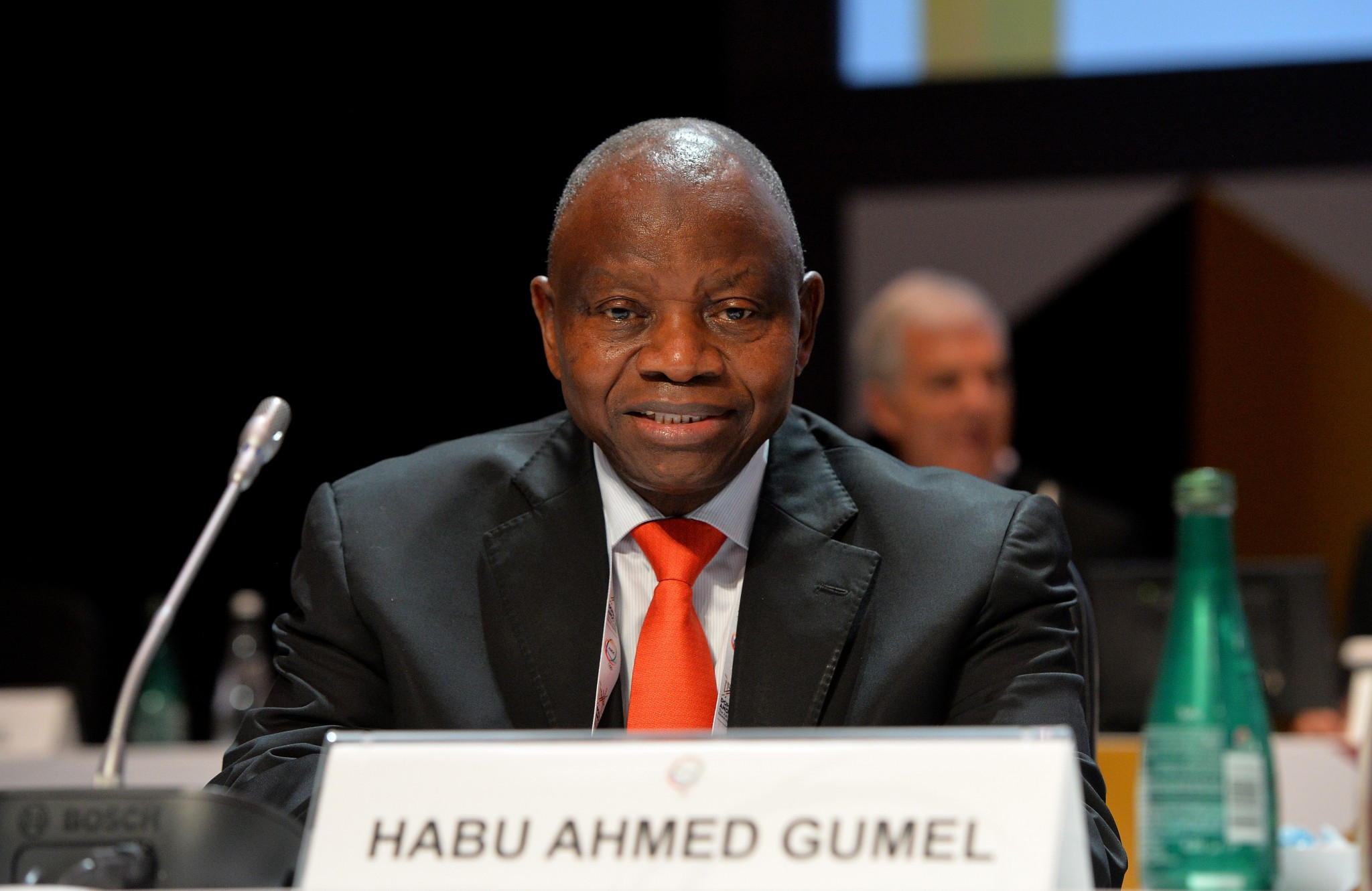 Habu Gumel thanked the IOC for helping to organise the event ©Getty Images