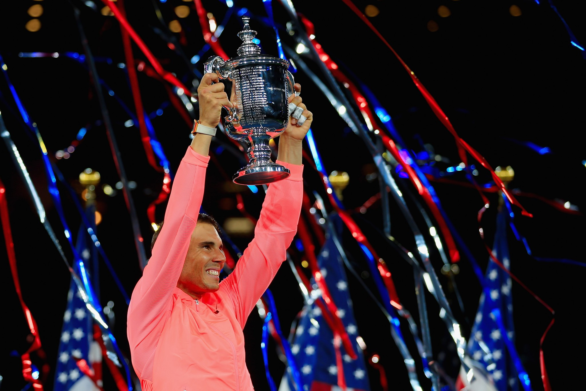 Rafael Nadal has won the men's singles final at the US Open ©Getty Images