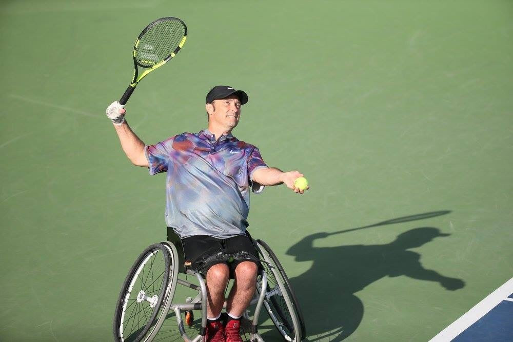 David Wagner won the wheelchair quad doubles title ©ITF/Twitter