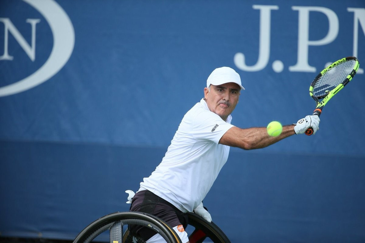 Stephane Houdet claimed the second US Open wheelchair men's singles title of his career ©ITF/Twitter