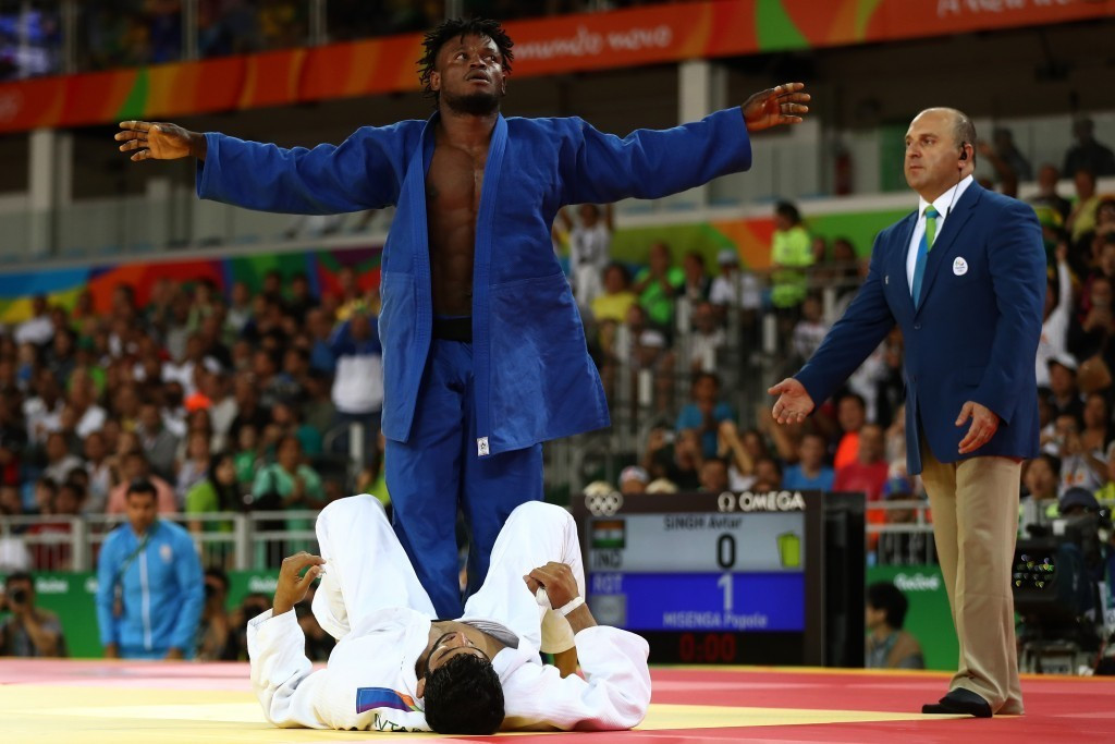 Judoka Popole Misenga was the Refugee Olympic Team's most successful athlete at Rio 2016 ©Getty Images