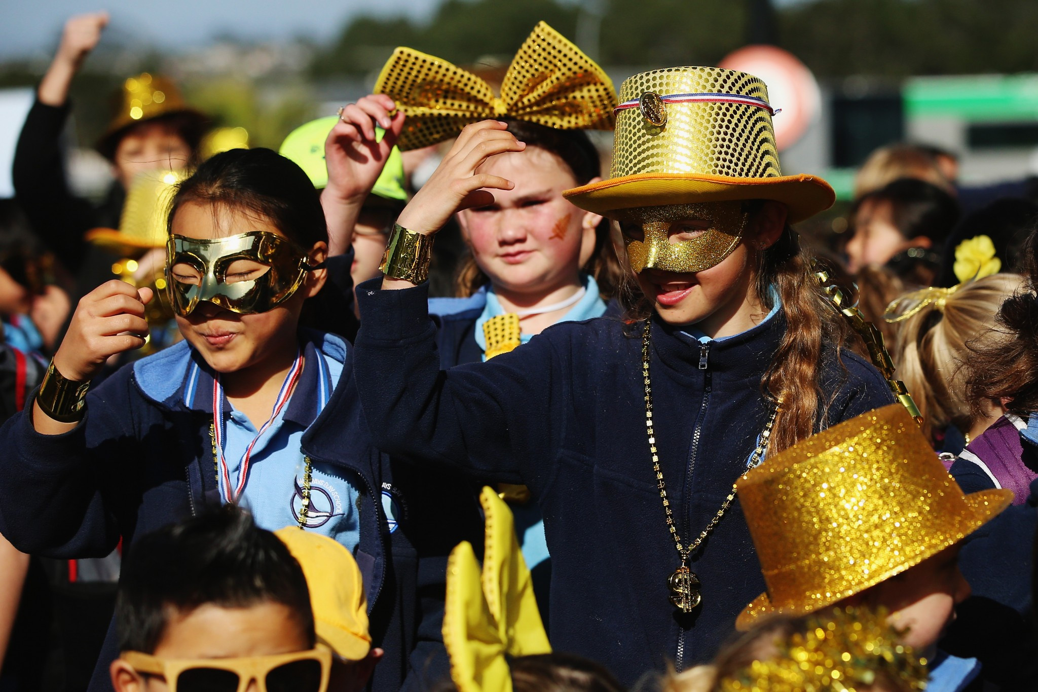 """People dressed up for the """"Spirit of Gold"""" mufti day to help raise funds to send New Zealand athletes to Pyeongchang 2018 ©PNZ"""