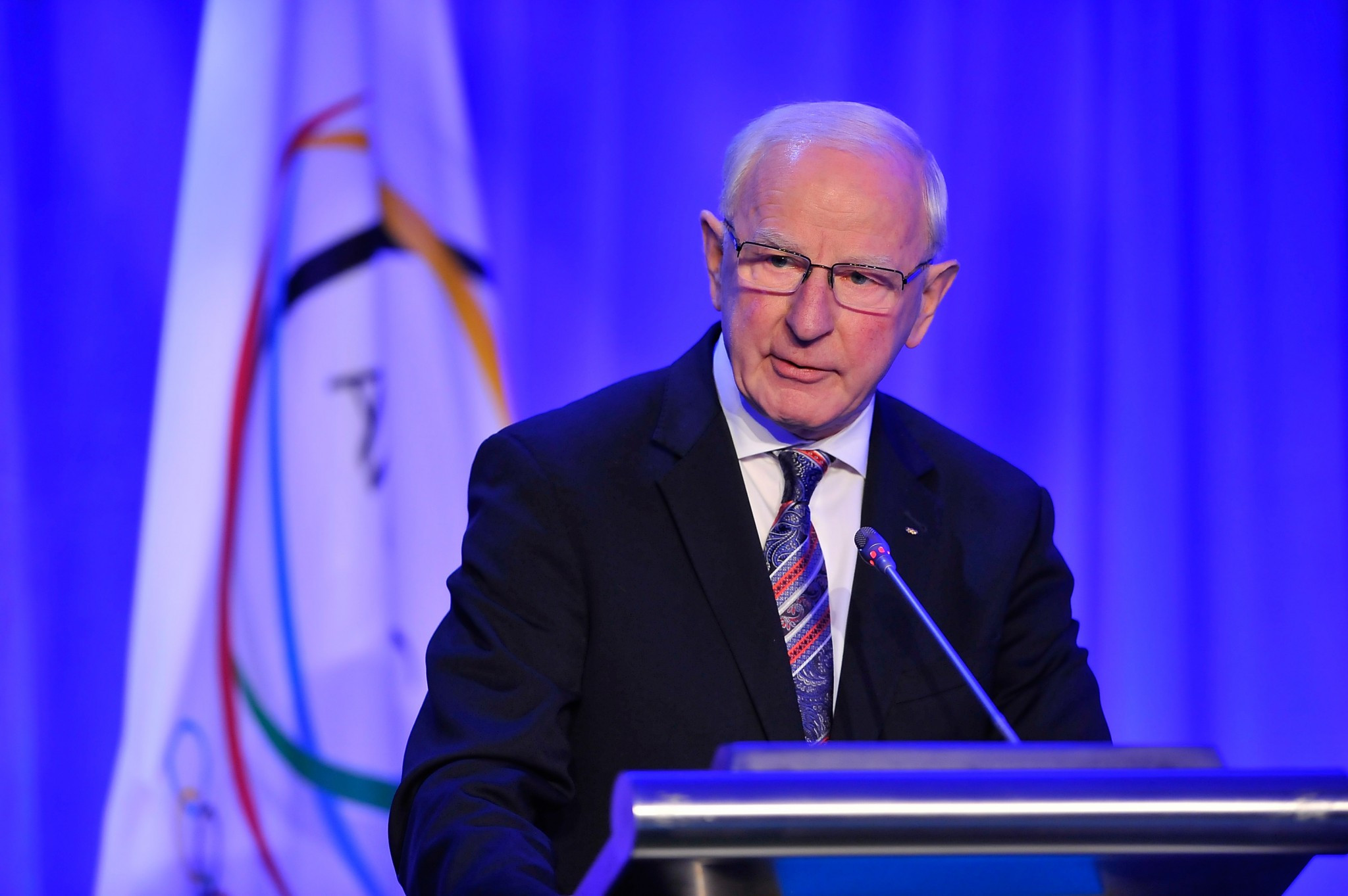 Patrick Hickey has resigned from the IOC Executive Board and could be replaced by Fiji's Robin Mitchell as representative of the Association of National Olympic Committees ©ANOC