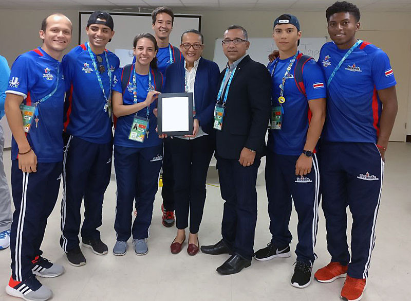 Costa Rica received the award after attending the Taipei 2017 Summer Universiade ©FISU