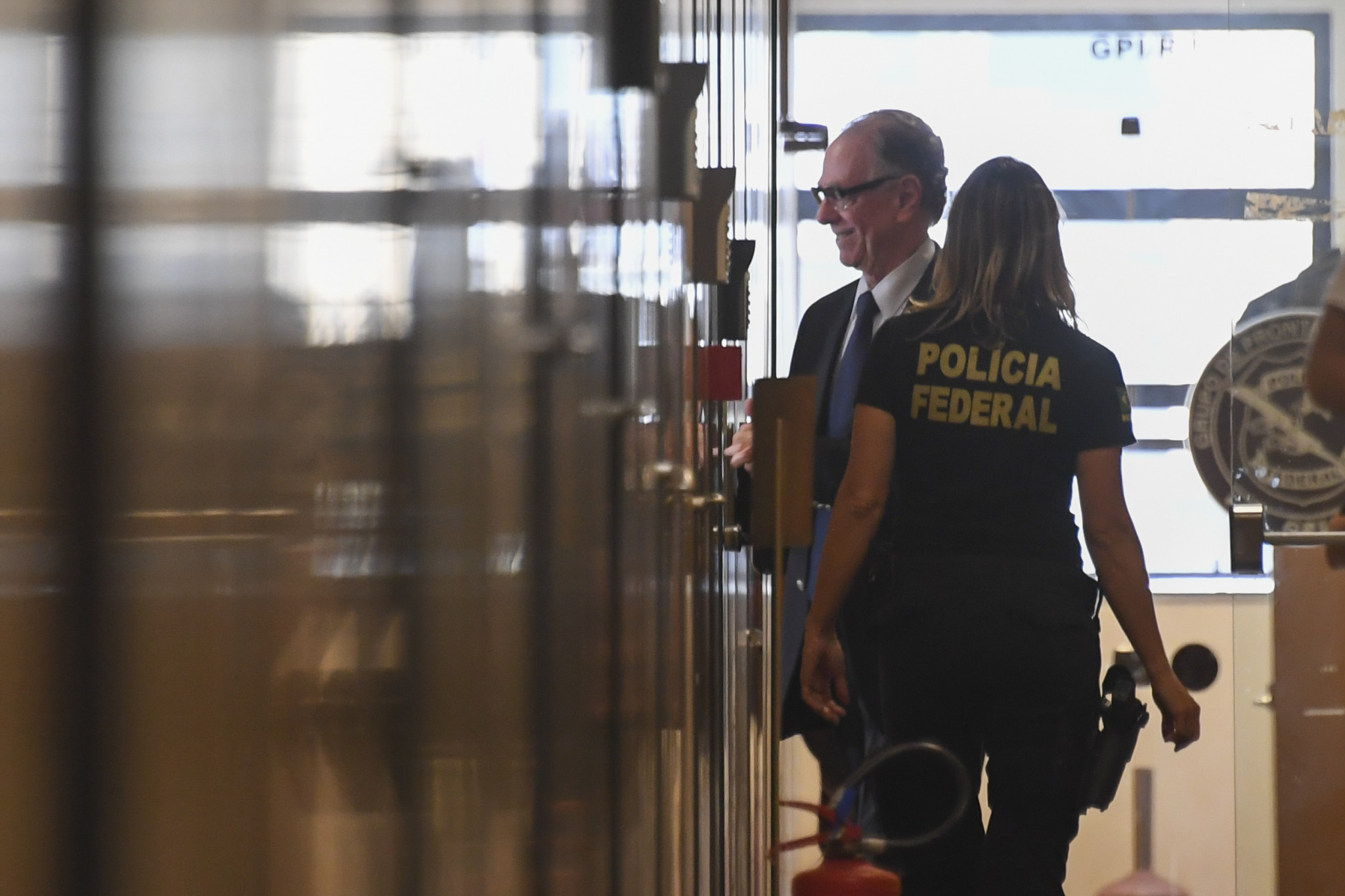 Rio 2016 President Carlos Nuzman entering the Federal Police Building in Rio de Janeiro last week after his house was searched following claims he had been involved in a scheme to help bribe IOC members from Africa ©Getty Images