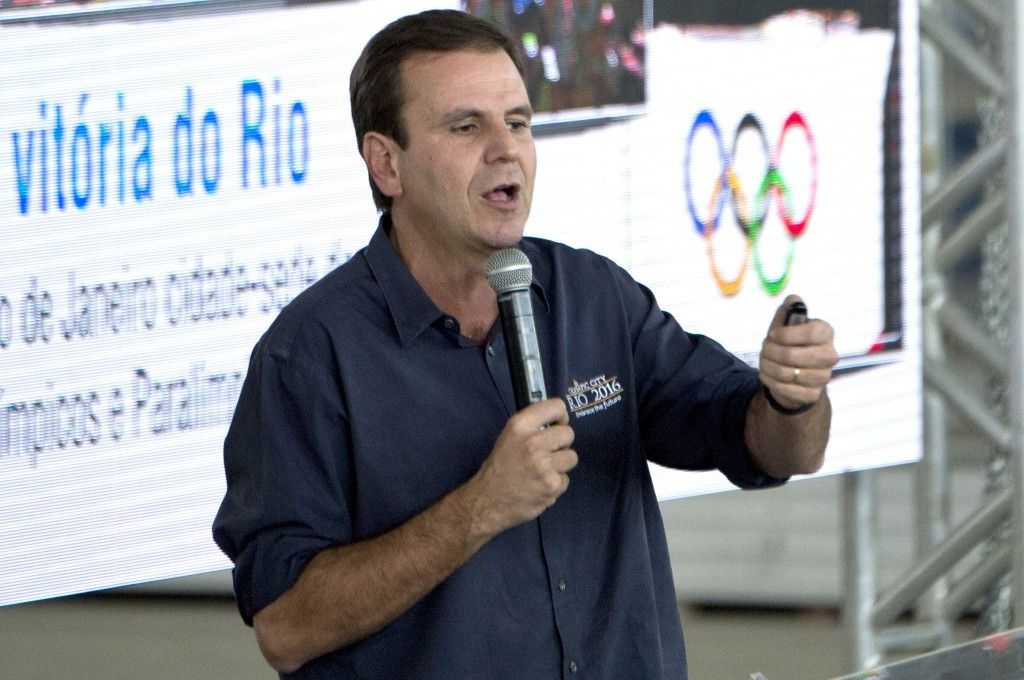 Rio Mayor Eduardo Paes had suggested the line may not be ready in time, but has since been more confident ©Getty Images