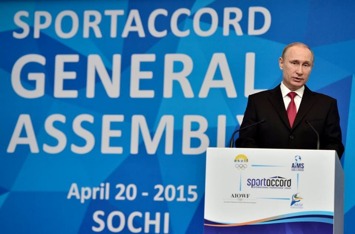 The presence of Vladimir Putin, arguably the most important man in the world, was almost an afterthought ©SportAccord Convention